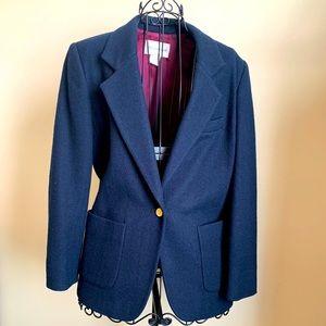 Vintage Blue 100% Wool Blazer Size 6